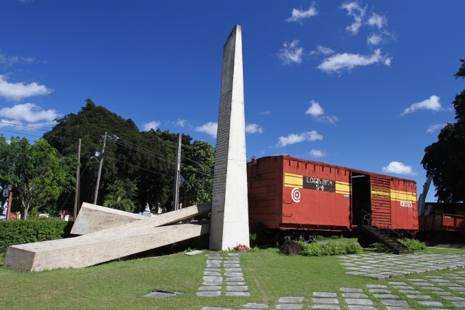 Revolutionary memorial of the train Che Guevara derailed, Santa Clara, Cuba