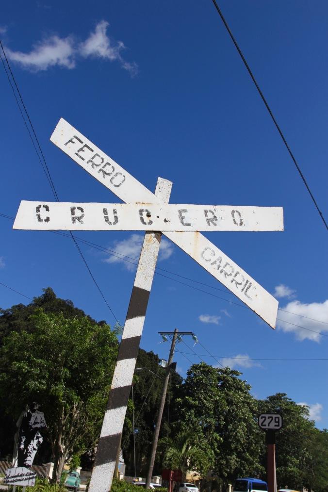 The nearby railway line to the derailment, Santa Clara, Cuba