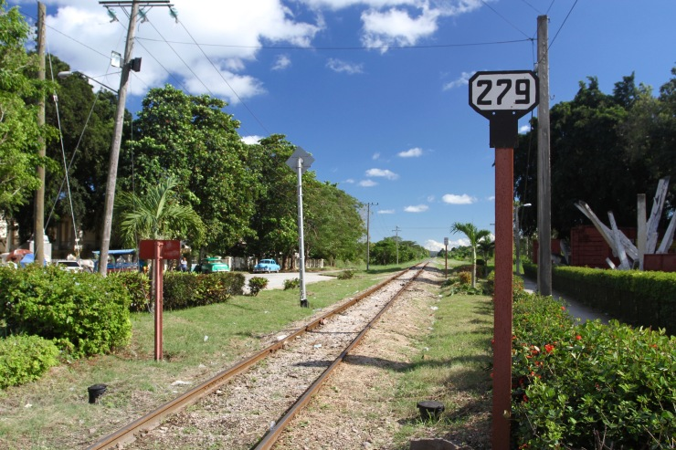 The nearby railway line to the derailment, Santa Clara, Cuba