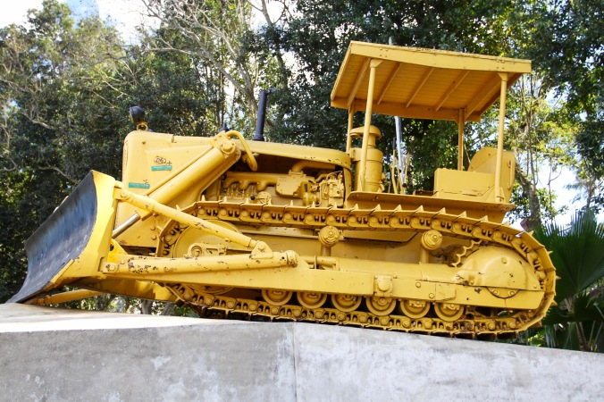 The bulldozer Che Guevara used to derail the train, Santa Clara, Cuba