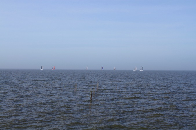 The view from Anthony Gormley's 'Exposure', Leylstad, Netherlands
