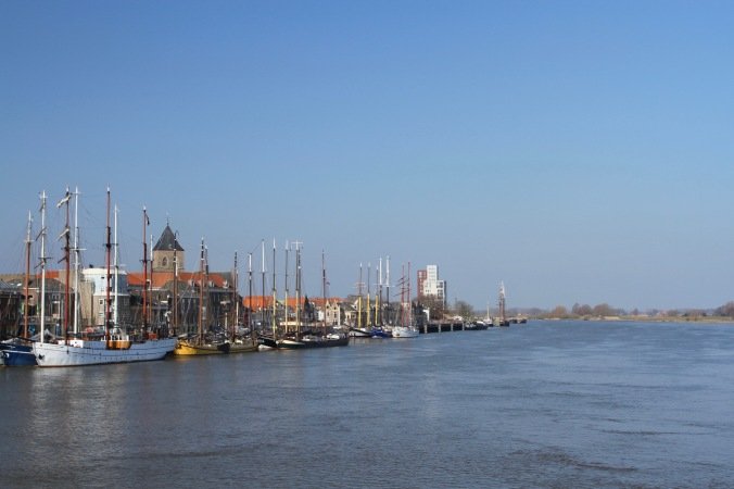 IJssel river at Kampen, Netherlands