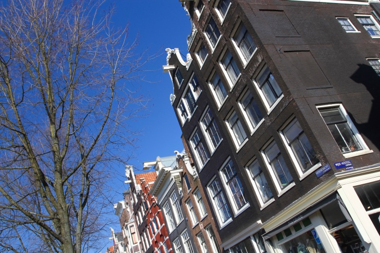 Dutch houses, Amsterdam, Netherlands