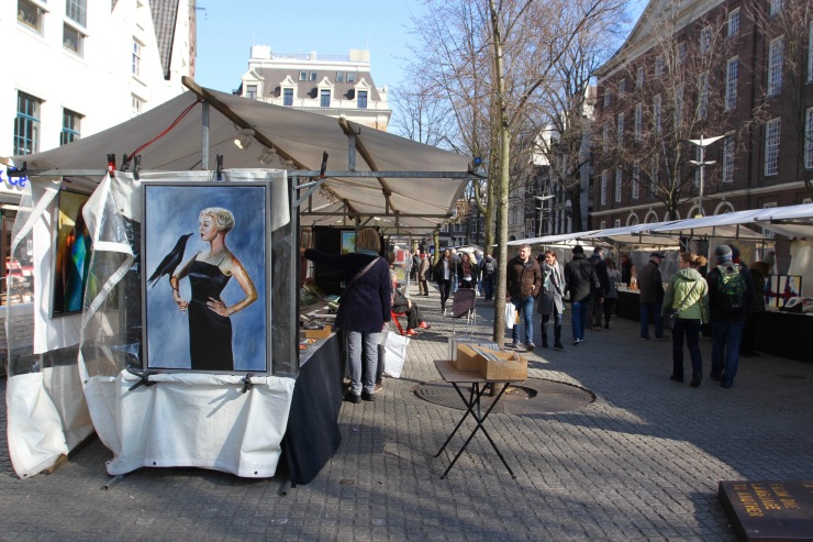Art market, Amsterdam, Netherlands