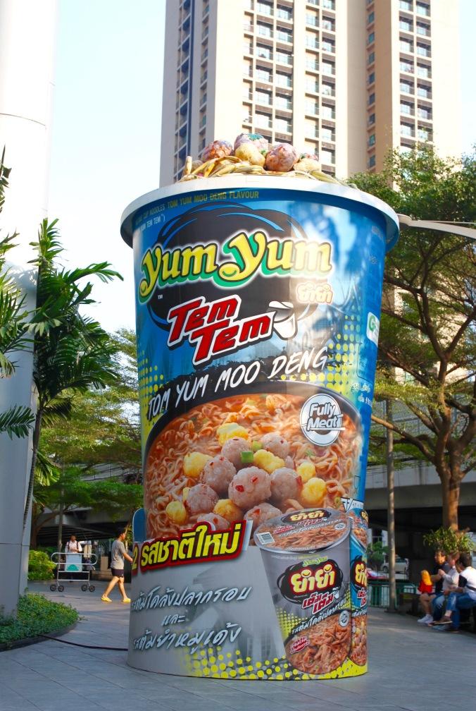 Giant pot noodle, Bangkok, Thailand