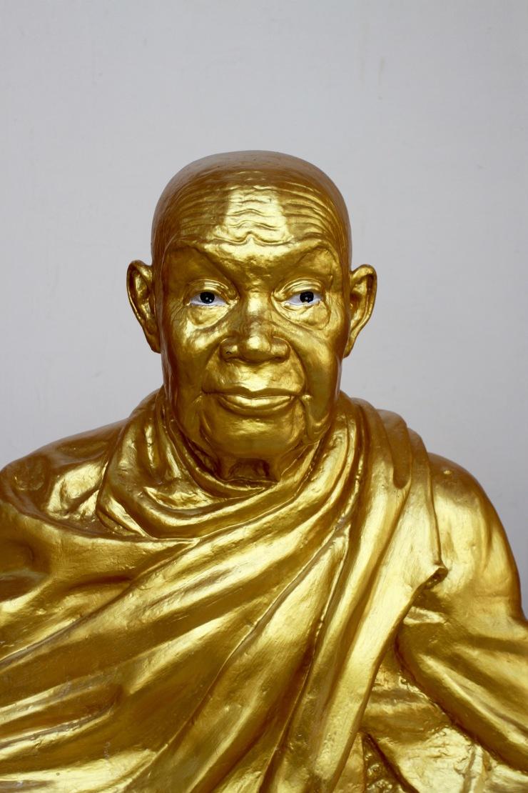 Monk statue, Buddhist temple, Bangkok, Thailand