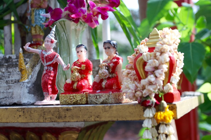 Buddhist shrine, Bangkok, Thailand