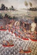 Temple paintings, Wat Bowonniwet Vihara, Bangkok, Thailand