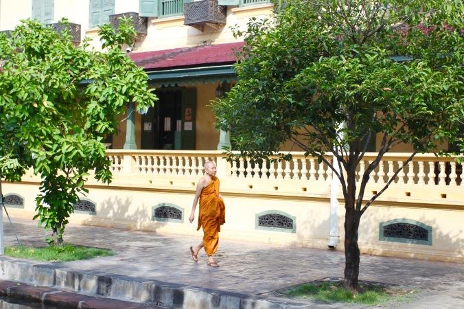 Monk, Wat Bowonniwet Vihara, Bangkok, Thailand