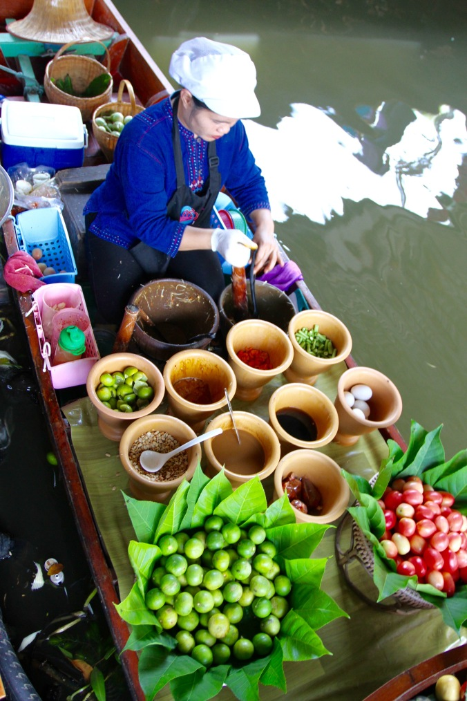 Floating food market, Bangkok, Thailand