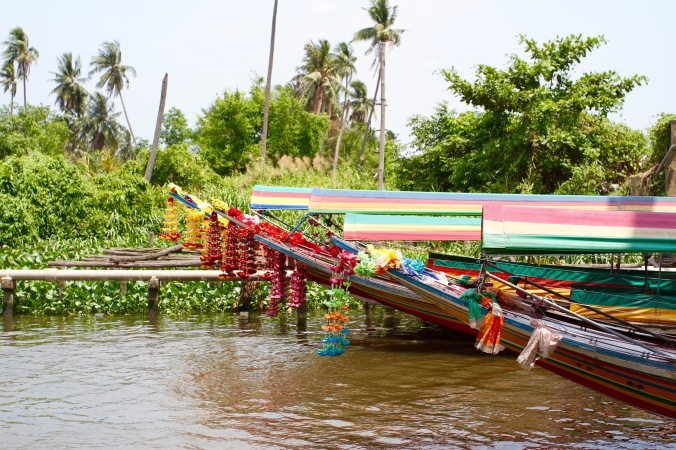 Boats on a canal, Bangkok, Thailand