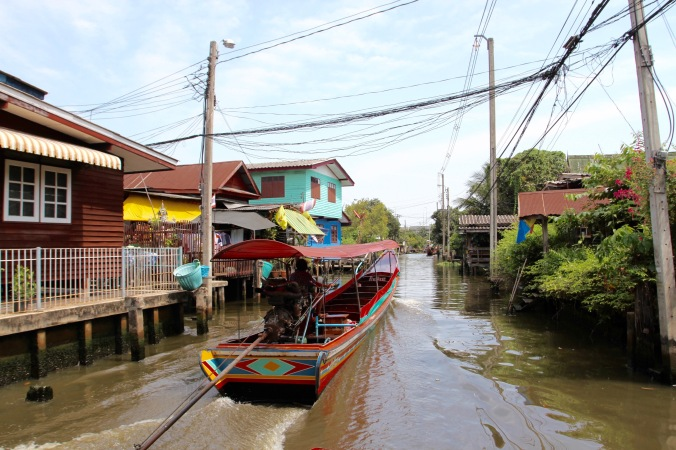 Canals in the Thonburi area of Bangkok, Thailand