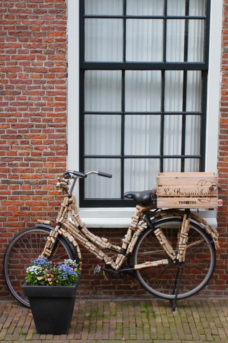 Cork bike, Voorburg, Netherlands