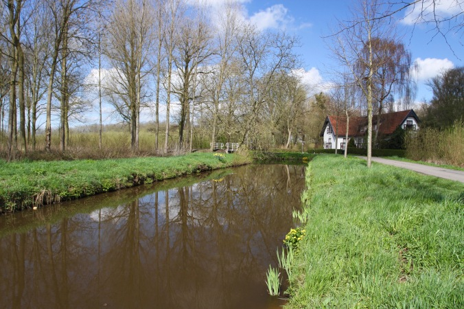 Cycling through the Dutch countryside near Oudewater, Netherlands
