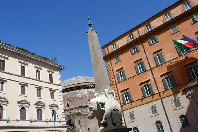 Obelisco della Minerva, near the Pantheon, Rome, Italy