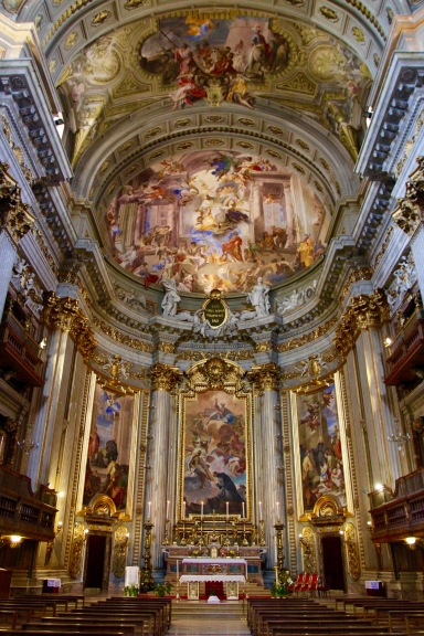 Church interior, Rome Italy