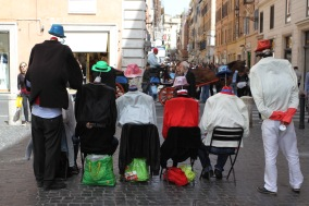 Headless living statues, Rome, Italy