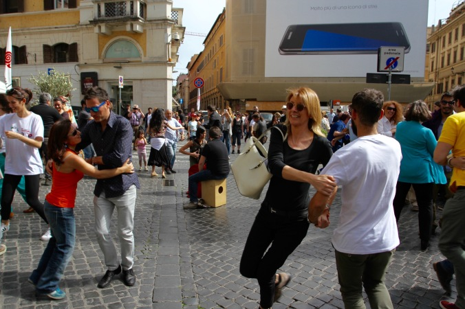 People dancing, Rome, Italy