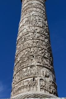 Marcus Aurelius Column, Piazza Colonna, Rome, Italy
