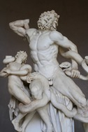Marble statues, Vatican Palace, Vatican City, Rome, Italy