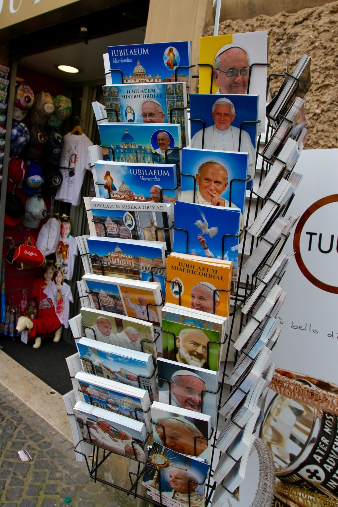 Pope postcards, Rome, Italy