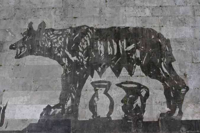 She-wolf, Triumphs and Laments, River Tiber, Rome, Italy