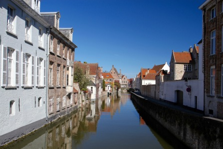 Canals and bridges and cobbled streets, Bruges, Belgium