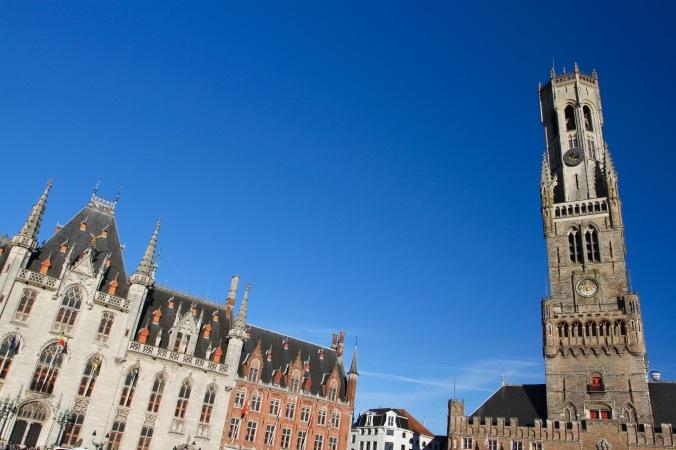 Belfort and Provinciaal Hof, Markt, Bruges, Belgium
