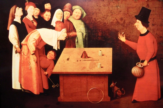 Before and after, Hieronymus Bosch paintings and photos, Den Bosch, Netherlands