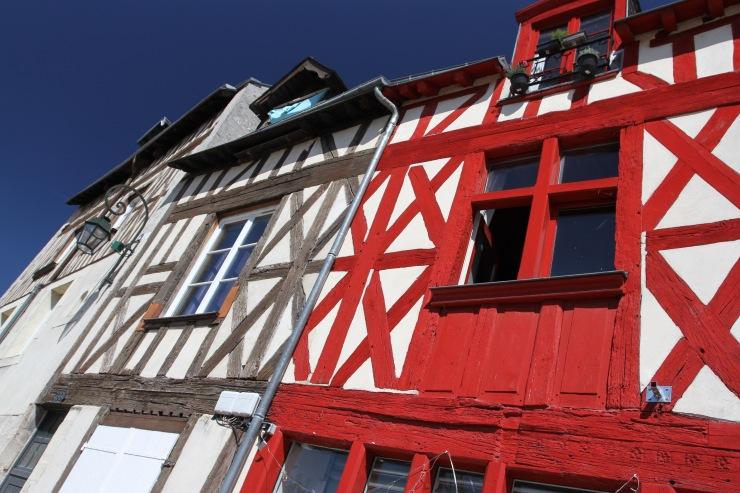 Timber-framed buildings, Orléans, France