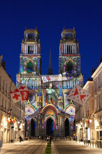 Joan of Arc projection, Cathédrale Sainte-Croix d'Orléans, Orléans, France