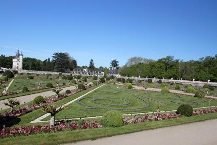 Formal gardens, Château de Chenonceau, Loire Valley, France