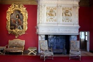 Louis XIV's room, Château de Chenonceau, Loire Valley, France