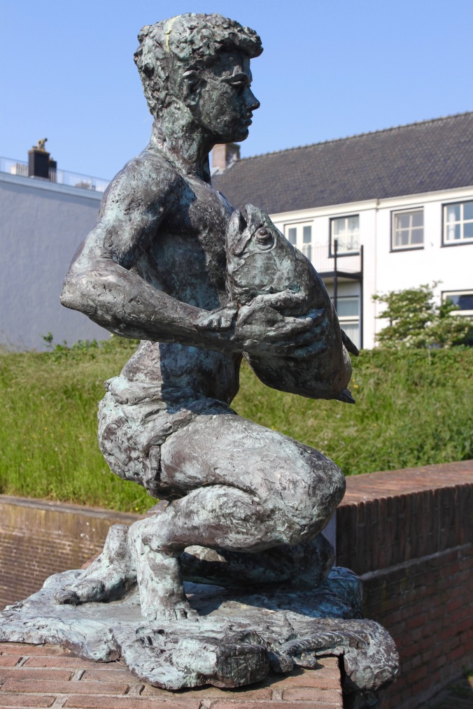Man and fish statue, Gorichem, Netherlands