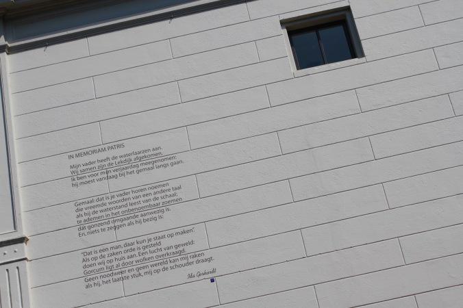 Building poem, Gorichem, Netherlands