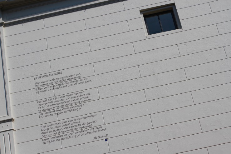 Building poem, Gorichem, Netherlands