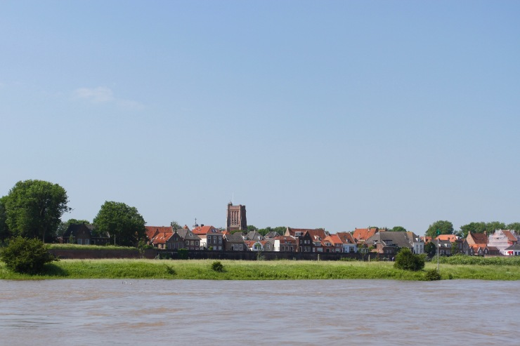 Woudrichem from the river en route to Slot Loevestein, Netherlands