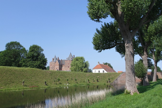 Dutch medieval castle, Slot Loevestein, Netherlands