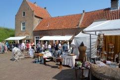 Antiques fair at Slot Loevestein, Netherlands
