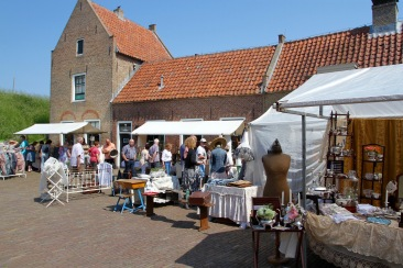 Antiques fair at Slot Loevestein, Netherlands