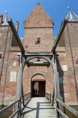 Dutch medieval castle, Slot Loevestein, Netherlands