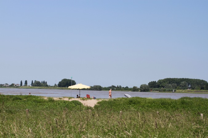 Beach on the river,en route to Woudrichem, Netherlands