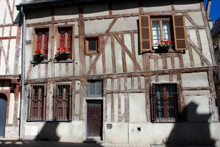 Timber-framed medieval buildings, Troyes, Champagne, France
