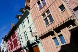 Timber-framed medieval buildings, Troyes, Champagne, France