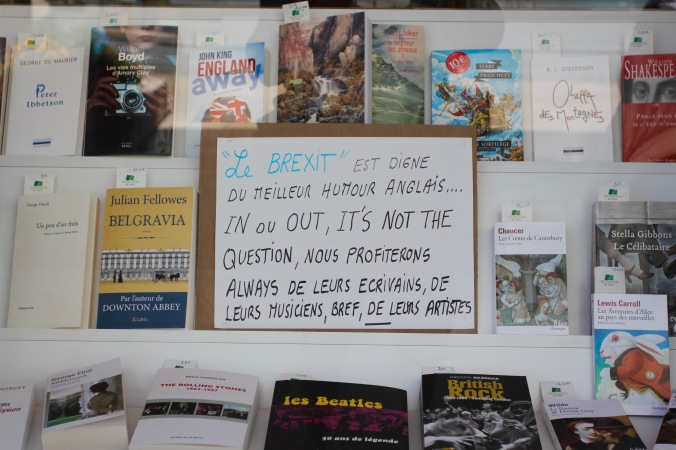 Brexit is just English humour, Troyes, Champagne, France