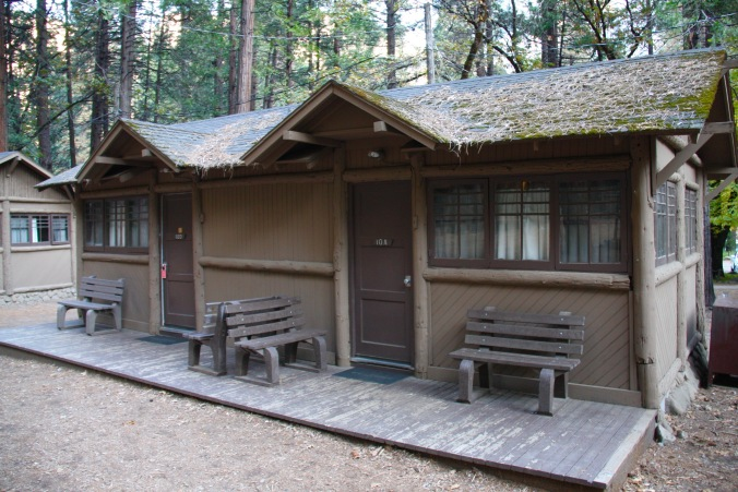 Log cabin, Yosemite National Park, California, United States