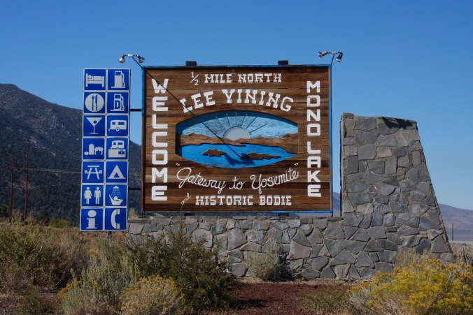 Lee Vining, gateway to Bodie, California, United States