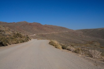 The route to Bodie, California, United States