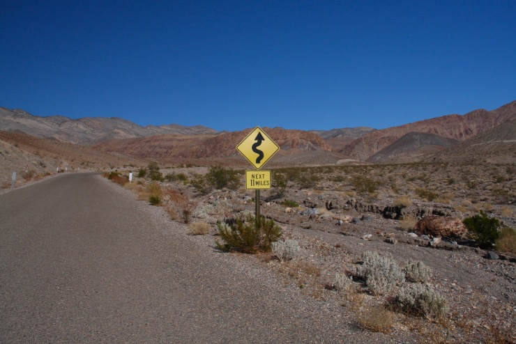 The Big Pine to Death Valley road, California, United States