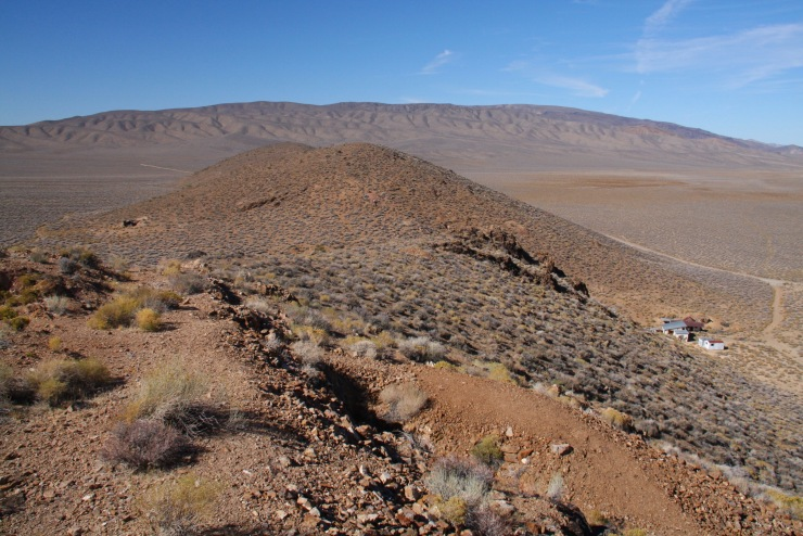 Views from Eureka Mine, Death Valley, California, United States